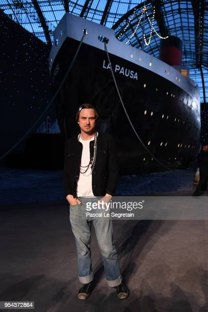 Lars Edinger attends the Chanel Cruise 2018/2019 Collection at Le Grand Palais on May 3 2018 in Paris France