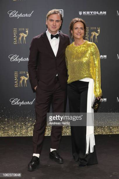 Lars Eidinger and Claudia Michelsen attend the 70th Bambi Awards at Stage Theater on November 16 2018 in Berlin Germany