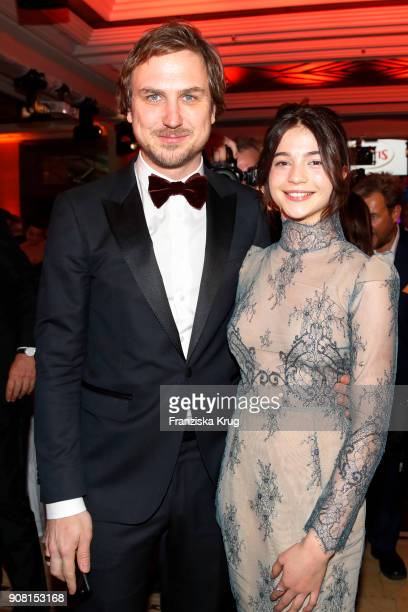 Lars Eidinger and LisaMarie Koroll during the German Film Ball 2018 at Hotel Bayerischer Hof on January 20 2018 in Munich Germany