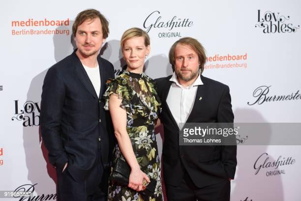 Lars Eidinger and Sandra Hueller attend the Medienboard BerlinBrandenburg Reception at The 68th Berlinale International Film Festival on February 17...