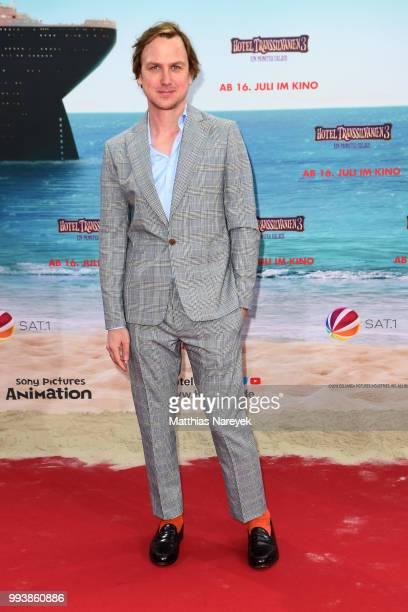 Lars Eidinger attends the 'Hotel Transsilvanien 3' premiere at CineStar on July 8 2018 in Berlin Germany
