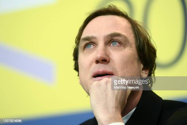 Lars Eidinger is seen at the Persian Lesson press conference during the 70th Berlinale International Film Festival Berlin at Grand Hyatt Hotel on...