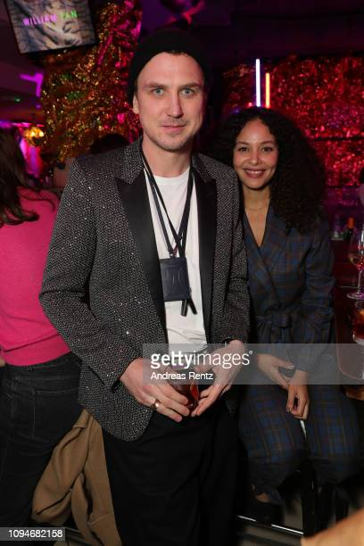Lars Eidinger poses after the William Fan Defile during 'Der Berliner Salon' Autumn/Winter 2019 at Knutschfleck on January 15 2019 in Berlin Germany