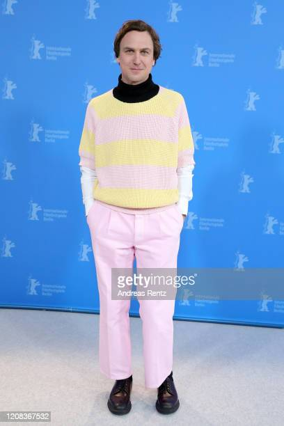 Lars Eidinger poses at the My Little Sister photo call during the 70th Berlinale International Film Festival Berlin at Grand Hyatt Hotel on February...