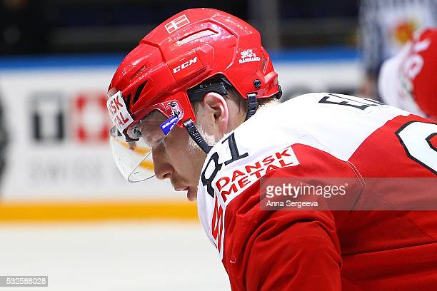 Lars Eller of Denmark skates against Czech Republic at Ice Palace on May 15 2016 in Moscow Russia