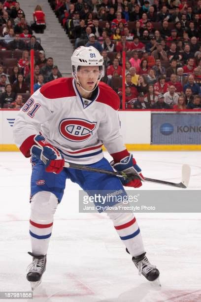 Lars Eller of the Montreal Canadiens skates during an NHL game against the Ottawa Senators at Canadian Tire Centre on November 7 2013 in Ottawa...