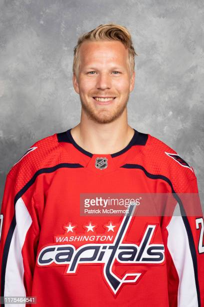 Lars Eller of the Washington Capitals poses for his official headshot for the 2019-2020 season on September 12, 2019 at MedStar Capitals Iceplex in...