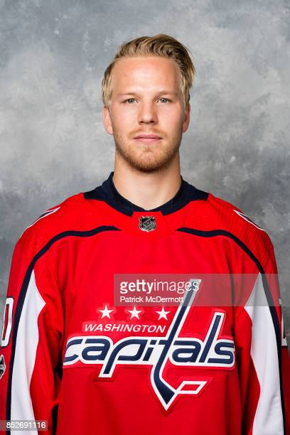 Lars Eller of the Washington Capitals poses for his official headshot for the 20172018 season on September 14 2017 at Kettler Capitals Iceplex in...
