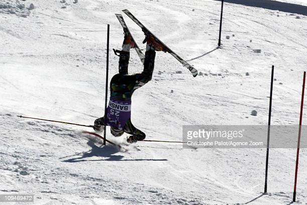Lars Elton Myhre of Norway in action during the Audi FIS Alpine Ski World Cup Men's Slalom on February 27, 2011 in Bansko, Bulgaria.