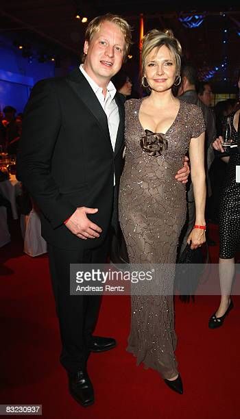 Lars Gaertner and Katharina Schubert attend the after show party to the German TV award at the Coloneum on October 11 2008 in Cologne Germany