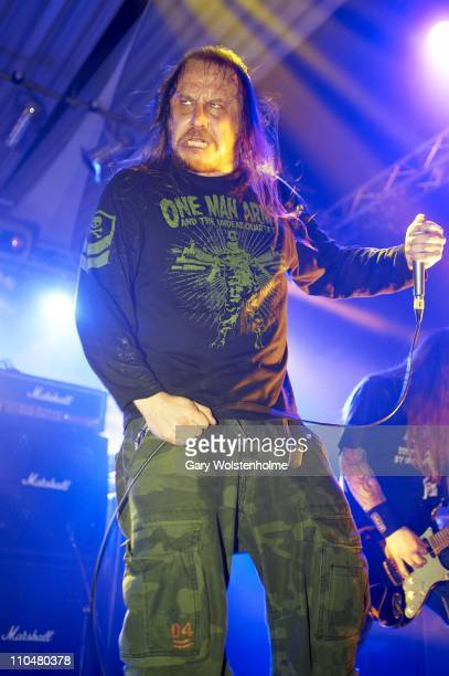 Lars Goran of Entombed performs during the final day of Hammerfest at Pontins on March 19 2011 in Prestatyn United Kingdom