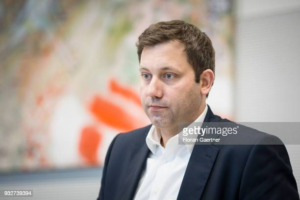 Lars Klingbeil Secretary General of the SPD party is pictured before the faction meeting on March 13 2018 in Berlin Germany