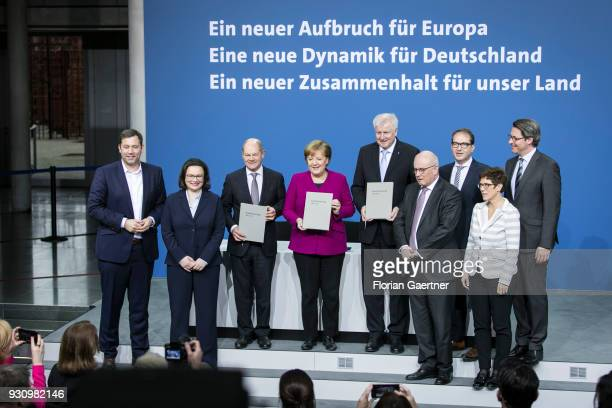 Lars Klingbeil Secretary General of the SPD party Parliamentary group leader of the Social Democratic Party Andrea Nahles the designated German...