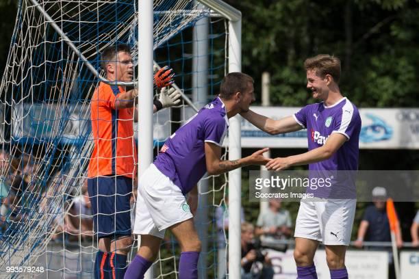 Lars Kramer of FC Groningen Luuk Wouters Of FC Groningen during the Club Friendly match between vv 't Fean '58 v FC Groningen at the Sportpark It...