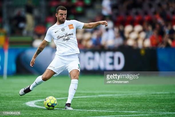 Lars Kramer of Viborg FF in action during the Danish 3F Superliga match between FC Nordsjalland and Viborg FF at Right to Dream Park on July 18, 2021...