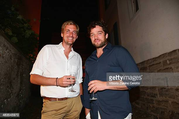 Lars Kraume and Ronald Zehrfeld attend the German Films Reception at Osteria Chiara during the 68th Locarno Film Festival on August 8 2015 in Locarno...