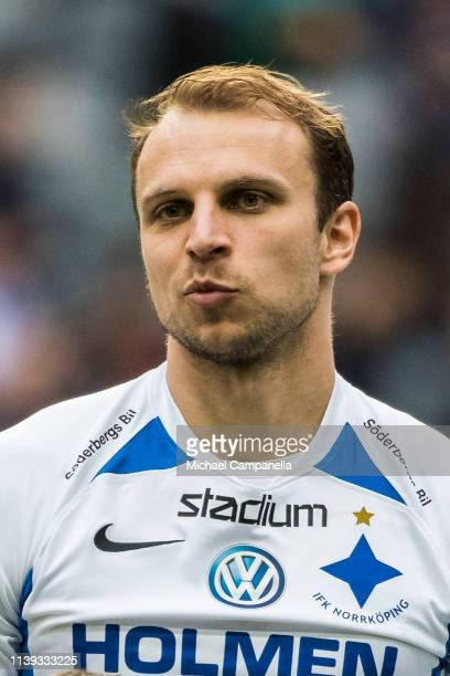 Lars Krogh Gerson of IFK Norrkoping during the Allsvenskan match between Djurgardens IF and IFK Norrkoping at Tele2 Arena on April 25 2019 in...