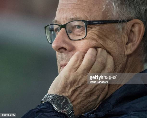Lars Lagerback of Norway during the FIFA 2018 World Cup Qualifier between Norway and Northern Ireland at Ullevaal Stadion on October 8 2017 in Oslo