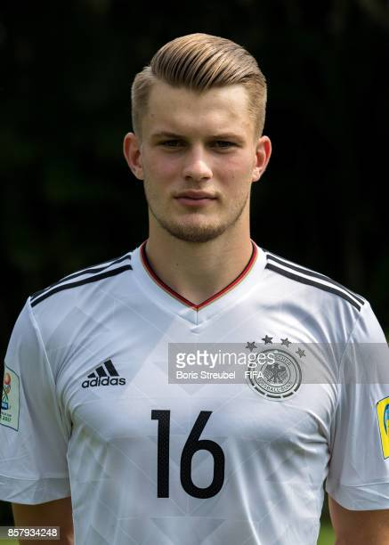 Lars Mai of Germany pose ahead of the FIFA U17 World Cup India 2017 tournament at Park Hyatt Goa Resort on October 5 2017 in Goa India