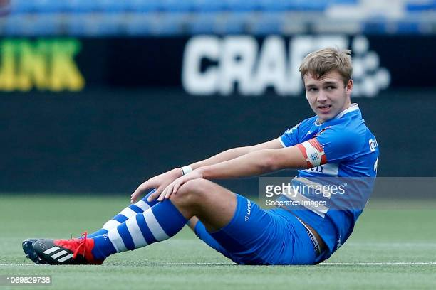 Lars Miedema of PEC Zwolle U19 during the match between PEC Zwolle U19 v FC Emmen U19 at the MAC3PARK Stadion on December 8 2018 in Zwolle Netherlands