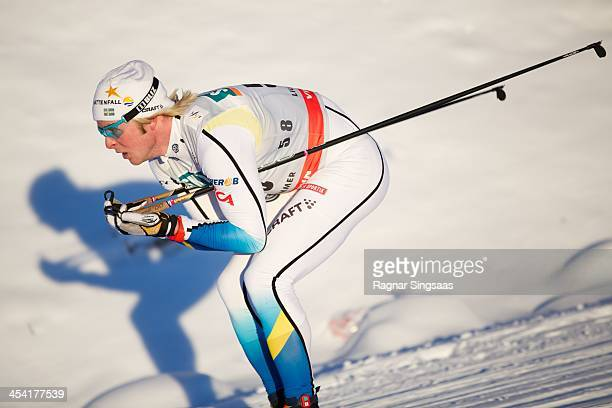 Lars Nelson of Sweden competes during the FIS CrossCountry World Cup Men's 15km Classic on December 7 2013 in Lillehammer Norway
