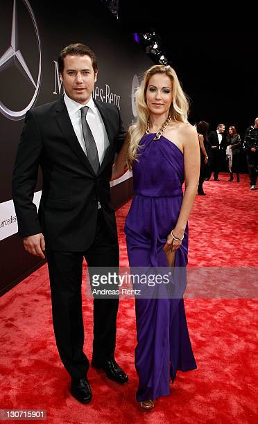 Lars Ricken and Andrea Kaiser attend the GQ Man of the Year Award 2011 at Komische Oper on October 28 2011 in Berlin Germany