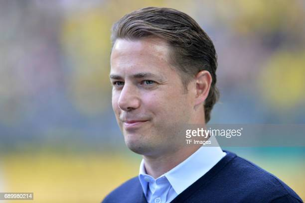 Lars Ricken looks on during the U19 German Championship Final match between U19 Borussia Dortmund and U19 Bayern Muenchen at Signal Iduna Park on May...