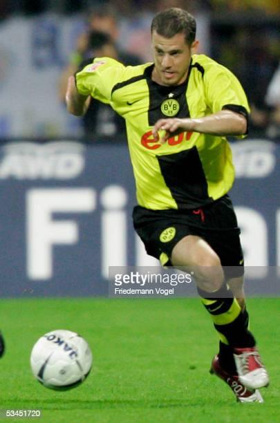 Lars Ricken of Dortmund in action during the DFB German Cup match between Eintracht Braunschweig and Borussia Dortmund at the Stadium Hamburger...