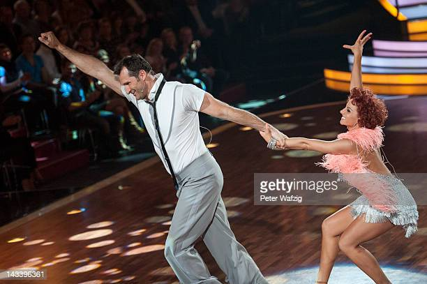 Lars Riedel and Marta Arndt perform during 'Let's Dance' 7th Show at Coloneum on April 25 2012 in Cologne Germany