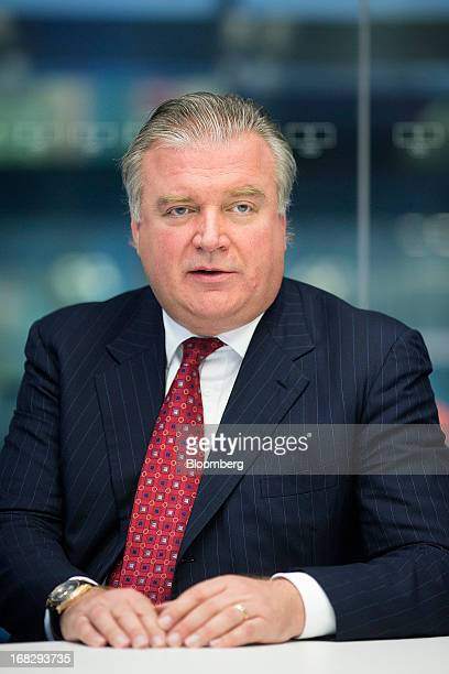 Lars Seier Christensen, co-chief executive officer of Saxo Bank A/S, poses for a photograph following a Bloomberg Television interview in London,...