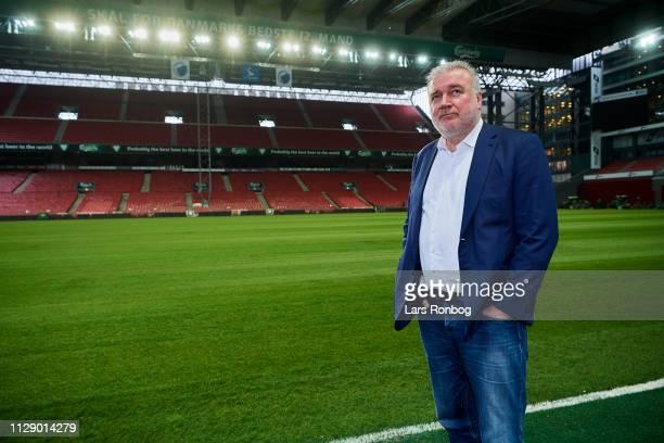 Lars Seier Christensen, new shareholder of FC Copenhagen Parken Sport and Entertainment speaking to the media during the FC Copenhagen Parken Sport...