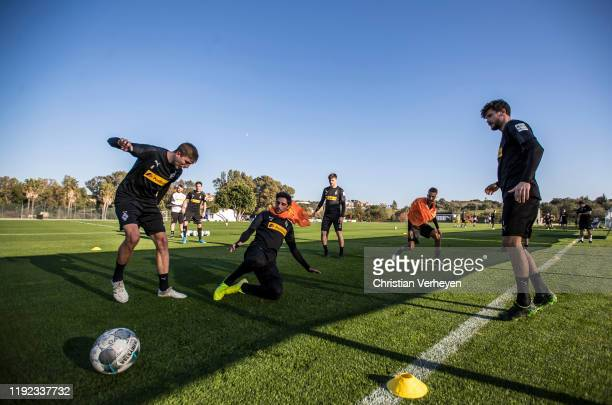 Lars Stindl and Christoph Kramer of Borussia Moenchengladbach in action during the Borussia Moenchengladbach Training Camp on January 06 2020 in...