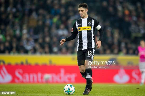 Lars Stindl of Borussia Moenchengladbach controls the ball during the Bundesliga match between Borussia Moenchengladbach and Hamburger SV at...