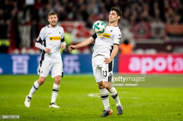 Lars Stindl of Borussia Moenchengladbach during the Bundesliga match between Bayer 04 Leverkusen and Borussia Moenchengladbach at BayArena on March...