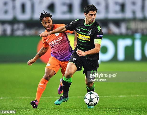 Lars Stindl of Borussia Moenchengladbach in action during the UEFA Champions League match between VfL Borussia Moenchengladbach and Manchester City...