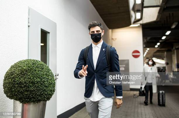 Lars Stindl of Borussia Moenchengladbach is seen during Borussia Moenchengladbach departs to the Group B UEFA Champions League match between FC...