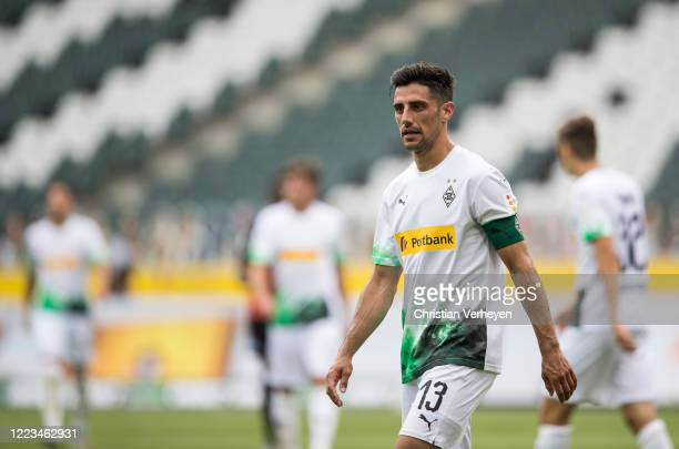Lars Stindl of Borussia Moenchengladbach is seen during the Bundesliga match between Borussia Moenchengladbach and Hertha BSC at BorussiaPark on June...