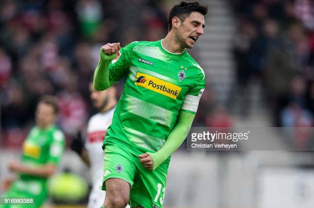 Lars Stindl of Borussia Moenchengladbach react after missing to score during the Bundesliga match between VfB Stuttgart and Borussia Moenchengladbach...