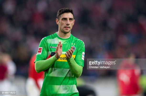 Lars Stindl of Borussia Moenchengladbach reacts after the Bundesliga match between VfB Stuttgart and Borussia Moenchengladbach at MercedesBenz Arena...