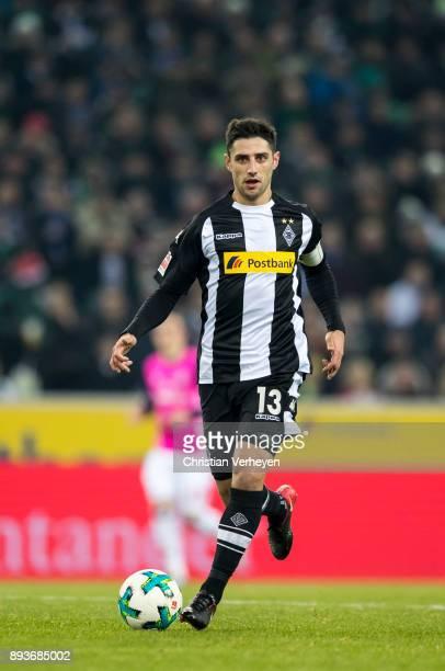 Lars Stindl of Borussia Moenchengladbach runs withe the ball during the Bundesliga match between Borussia Moenchengladbach and Hamburger SV at...
