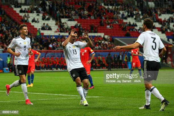 Lars Stindl of Germany celebrates scoring a goal to make the score 11 during the FIFA Confederations Cup Russia 2017 Group B match between Germany...