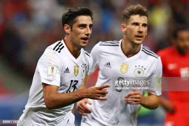 Lars Stindl of Germany celebrates scoring his sides first goal during the FIFA Confederations Cup Russia 2017 Group B match between Germany and Chile...