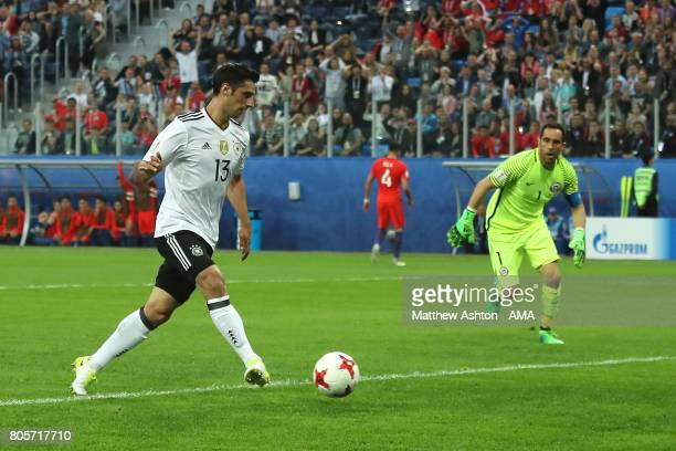 Lars Stindl of Germany scores a goal to make the score 01 during the FIFA Confederations Cup Russia 2017 Final match between Chile and Germany at...