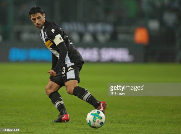 Lars Stindl of Moenchengladbach controls the ball during the Bundesliga match between Borussia Moenchengladbach and FC Augsburg at BorussiaPark on...
