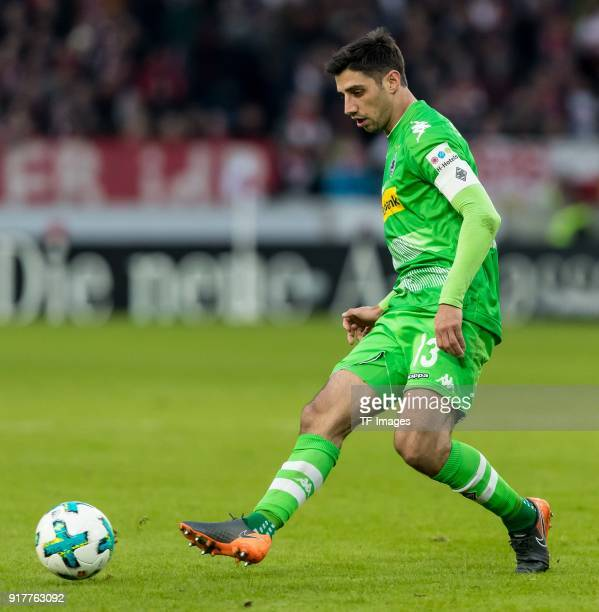 Lars Stindl of Moenchengladbach controls the ball during the Bundesliga match between VfB Stuttgart and Borussia Moenchengladbach at MercedesBenz...