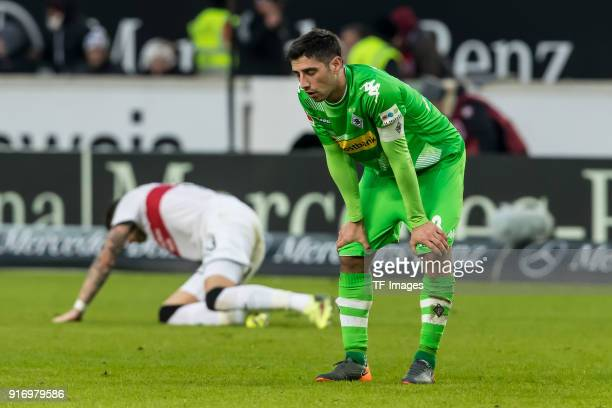 Lars Stindl of Moenchengladbach looks dejected during the Bundesliga match between VfB Stuttgart and Borussia Moenchengladbach at MercedesBenz Arena...