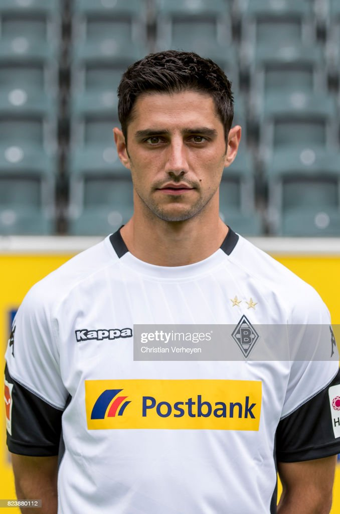 Lars Stindl pose during the team presentation of Borussia Moenchengladbach at Borussia-Park on July 28, 2017 in Moenchengladbach, Germany.