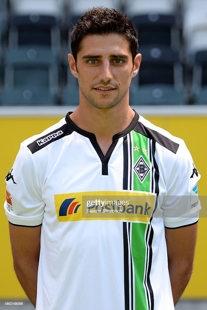 Lars Stindl poses during the team presentation of Borussia Moenchengladbach at Borussia-Park on July 10, 2015 in Moenchengladbach, Germany.