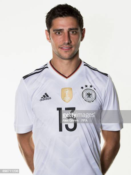 Lars Stindl poses for a picture during the Germany team portrait session on June 16 2017 in Sochi Russia