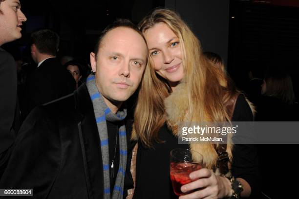 Lars Ulrich and Connie Nielsen attend THE HUFFINGTON POST PreInaugural Ball at The Newseum on January 19 2009 in Washington DC